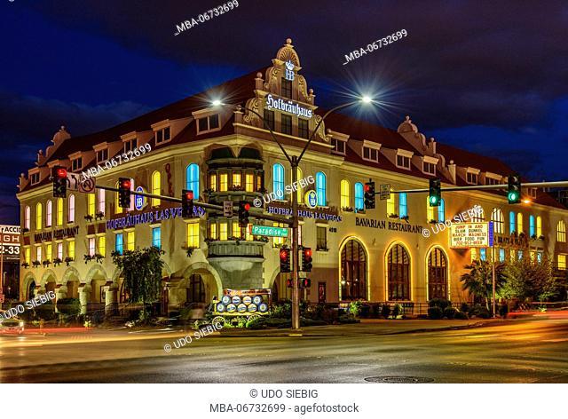 The USA, Nevada, Clark County, Las Vegas, Paradise Road, Hofbräuhaus Las Vegas