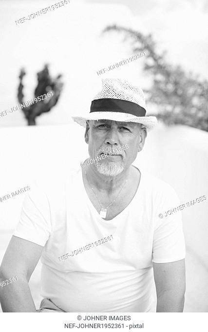Portrait of senior man, Lanzarote, Canary Islands, Spain