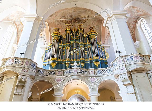 Organ in the Church of St. Johns, St. John the Baptist and St. John the Apostle and Evangelist. Vilnius University. Vilnius, Vilnius County, Lithuania