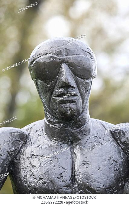 Flying men sculpture by artist Dame Elisabeth Frink Windsor Ontario Canada