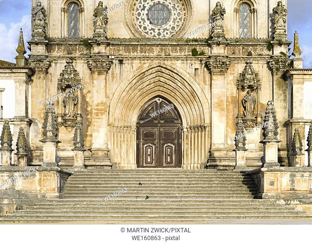 The monastery of Alcobaca, Mosteiro de Santa Maria de Alcobaca, listed as UNESCO world heritage site. Europe, Southern Europe, Portugal