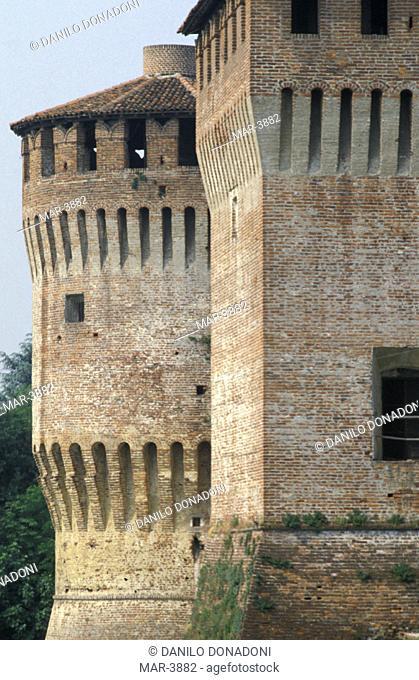 galeazzo maria sforza's fortress, soncino, italy