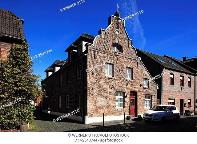 Germany, Wachtendonk, Niers, Nette, Maas-Schwalm-Nette Nature Park, Lower Rhine, Rhineland, North Rhine-Westphalia, NRW, historic downtown