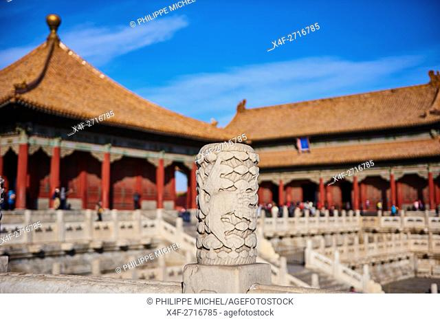 China, Beijing, Forbidden City, Heavenly Purity hall