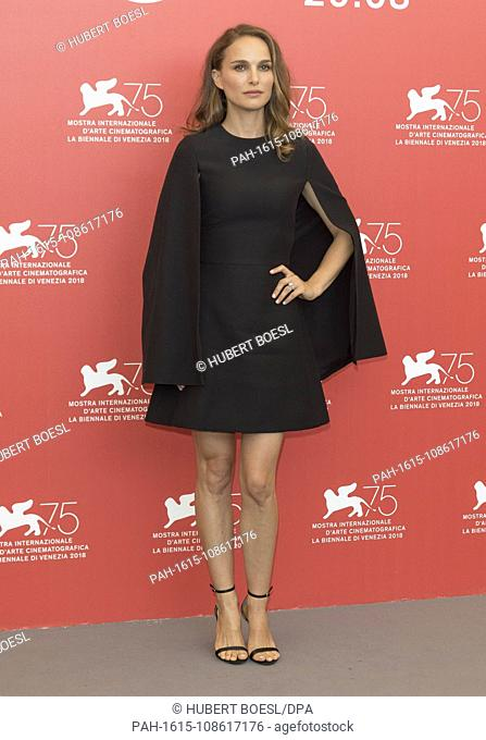 Natalie Portman poses at the photo call of 'Vox Lux' during the 75nd Venice Film Festival at Palazzo del Casino in Venice, Italy, on 04 September 2018