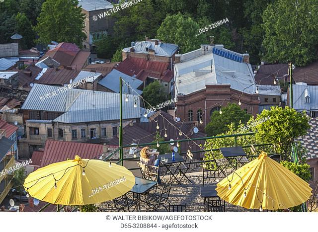 Georgia, Tbilisi, Old Town, rooftop cafe, NR
