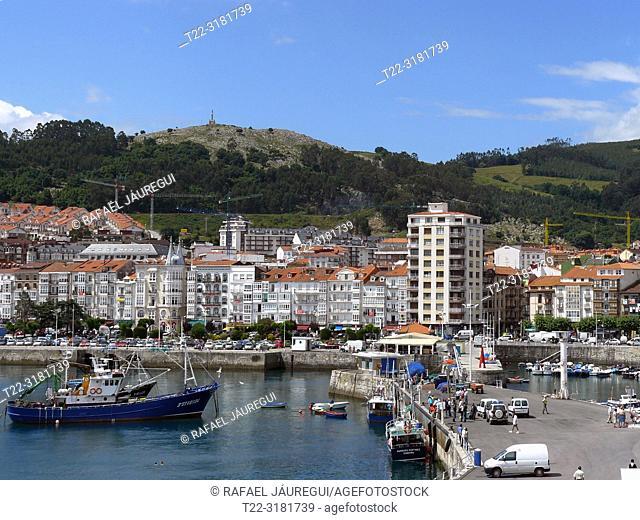 Castro Urdiales (Cantabria) Spain. Fishing port fishing village of Castro Urdiales