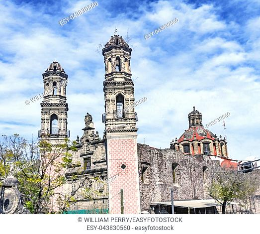 San Hipolito Church Mexico City Mexico. On the Reforma Avenue, established 1521. Dedicated to Saint Judas Tadeo of Lost Causes