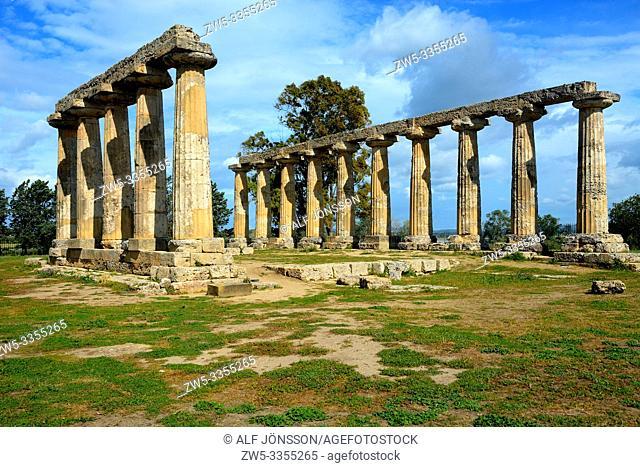 Doric temple of Hera, Tavole Palatine, in Metaponto, Basilicata, Italy