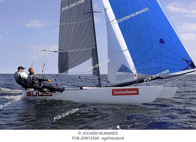 Texel, Ronde van Texel, Round Texel Race, the biggest regatta for Catamaran sailing boats