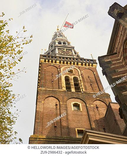 Oude Kerk (old church), Oudekerksplein, Amsterdam, Netherlands. Amsterdam's oldest building founded in 1213 and consecrated in 1306