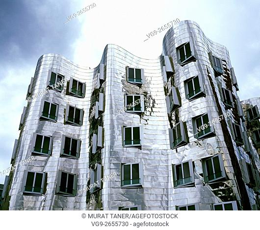 One of the Gehry Buildings at the Media Harbor. Dusseldorf, Germany