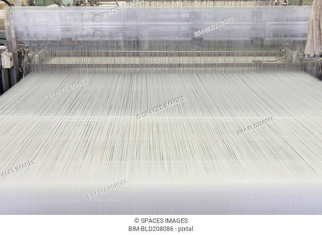 Industrial loom in textile factory