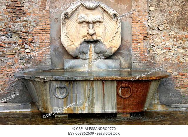 Renaissance marble fountain