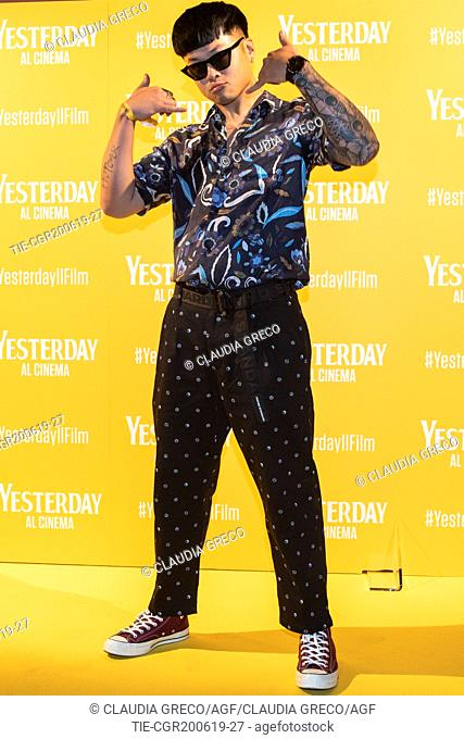 Mike Lennon during the photocall of film ' Yesterday ' in Milan, ITALY-20-06-2019