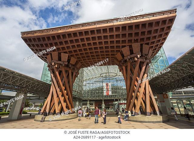 Japan, Kanazawa City, Kanazawa Staion, Main Gate