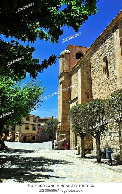 The Renaissance church of Saint John the Baptist, XVI-XVIIth centuries. Milmarcos town, Guadalajara province, Spain