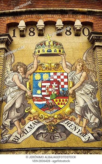 Hungarian Coat of Arms. Budapest Hungary, Southeast Europe