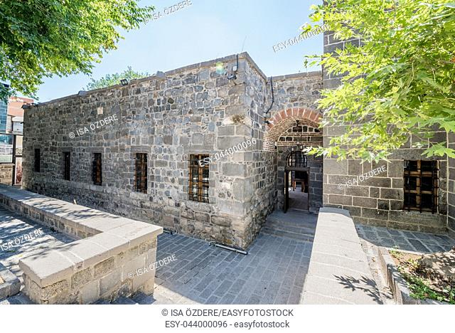 View of Zinciriye Medresesi or Madrasah near Ulu Mosque,a popular landmark in Diyarbakir,Turkey. 16 July 2018