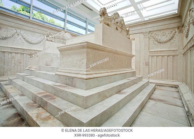 Inside Ara Pacis Augustae. Rome. Italy
