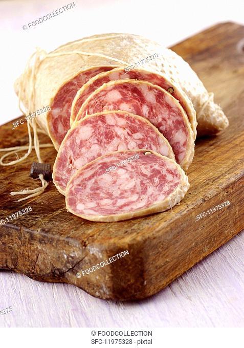 Salame d'oca (salami made from pork and goose meat, Italy)