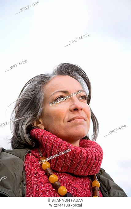 Thoughtful looking woman