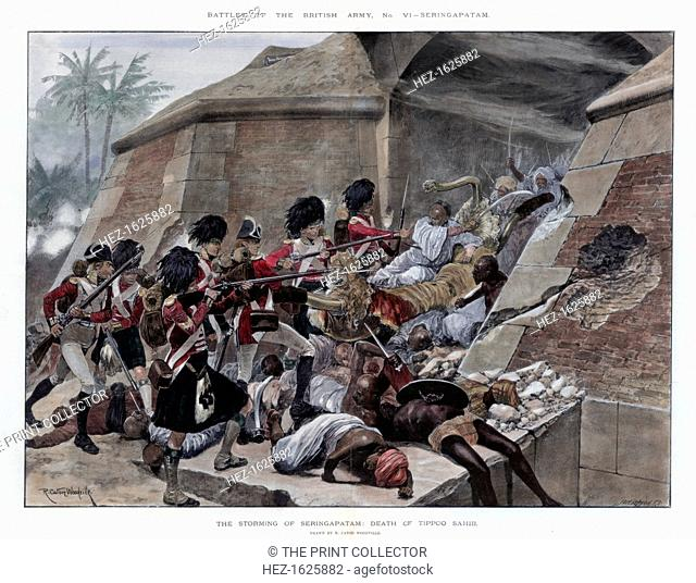 The storming of Seringapatam resulting in the death of Tippu Sultan, 1894. In the fourth Anglo-Mysore War in 1799, the Battle of Seringapatam was the final...