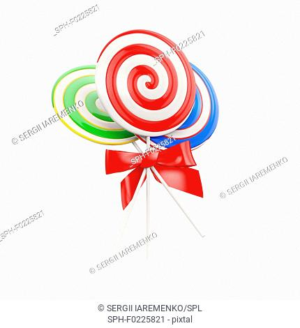 Lollipops, illustration