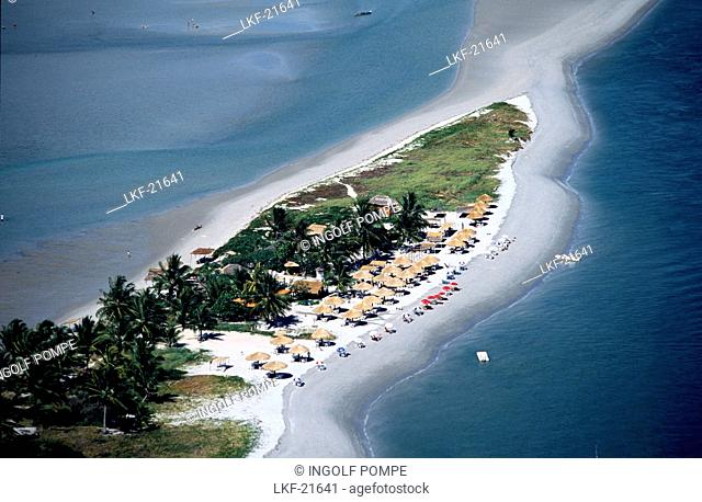Aerial photo, Ilha Coroa do Aviao near Bahia, Brazil