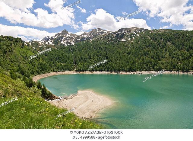 Switzerland, Canton Ticino, Ritom-Priora, Ritom lake