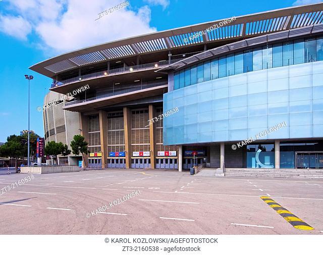 Estadi del F.C. Barcelona - Camp Nou - a football stadium in Barcelona, Catalonia, Spain