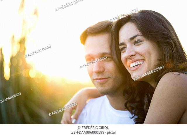 Couple spending time together outdoors