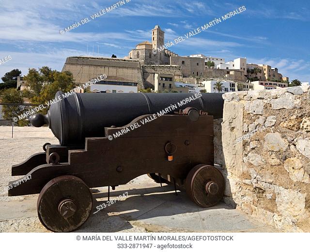 Dalt Vila in Eivissa. Ibiza. Islas Baleares. Spain. Europe