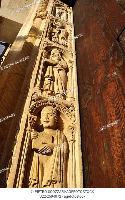 Modena, Italy, bas-relief on the Cathedrals façade...
