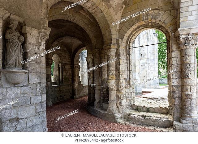 Ambulatory of the Church at Saint Cosme Priory also called Home of Ronsard, La Riche, Tours District, Indre-et-Loire Department, Centre-Val de Loire Region