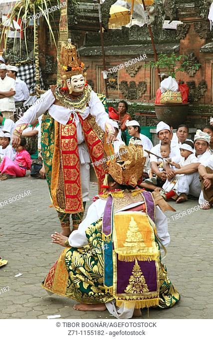 Indonesia, Bali, Mas, temple festival, masked dancers, odalan, Kuningan holiday