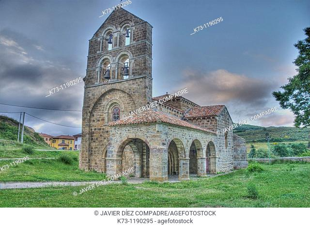 Romanesque Church of San Salvador de Cantamuda (12th century). Fuentes Carrionas y Fuente Cobre-Montaña Palentina Natural Park