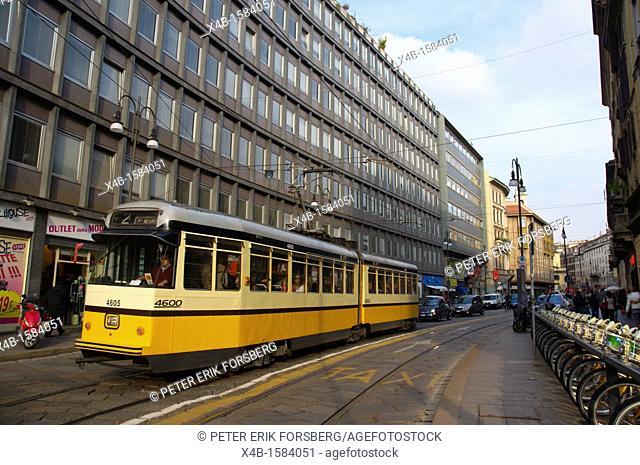 Via Torino street central Milan Lombardy region Italy Europe