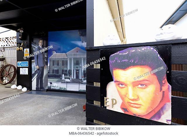 New Zealand, North Island, Hawera, KD's Elvis Presley Museum, exterior