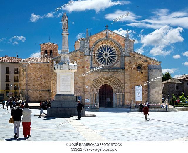 San Pedro church in Avila. Castilla Leon. Spain