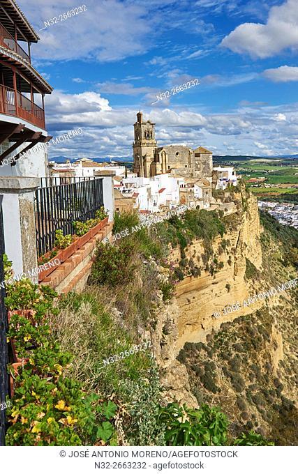 Arcos de la Frontera, Pueblos Blancos ('white towns') Route Cadiz province, Andalusia, Spain