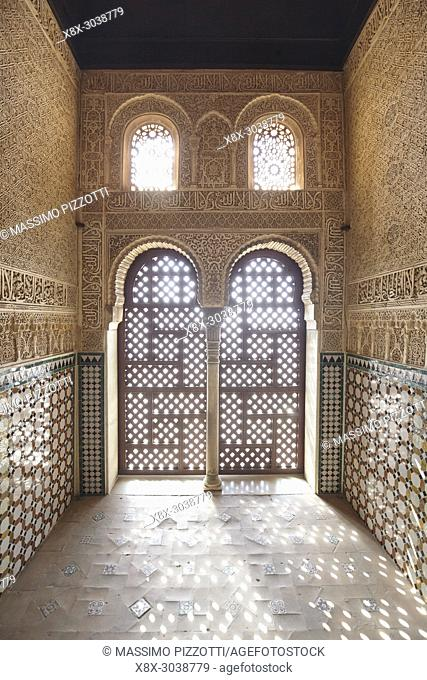 Hall of the Ambassadors in Nasrid palace, Alhambra complex, Granada, Andalusia, Spain
