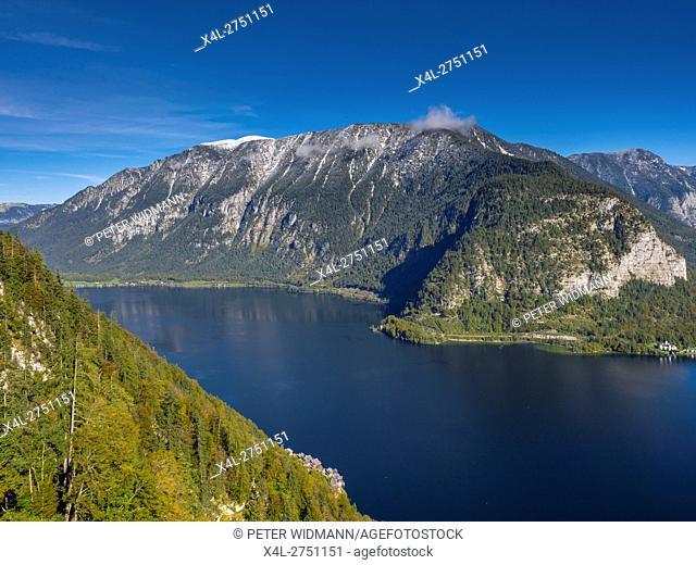 Hallstaettersee, Lake Hallstatt, Hallstatt, Salzburg, Austria, Europe
