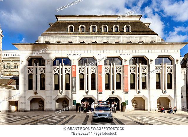 The Guildhall Art Gallery, Gresham Street, London, UK