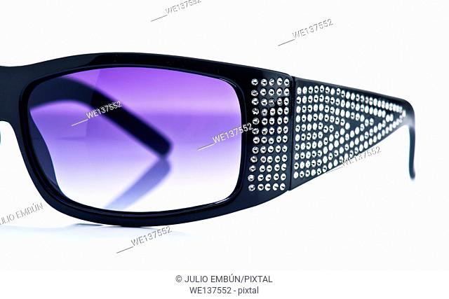 modern sunglasses costume, isolated on white background