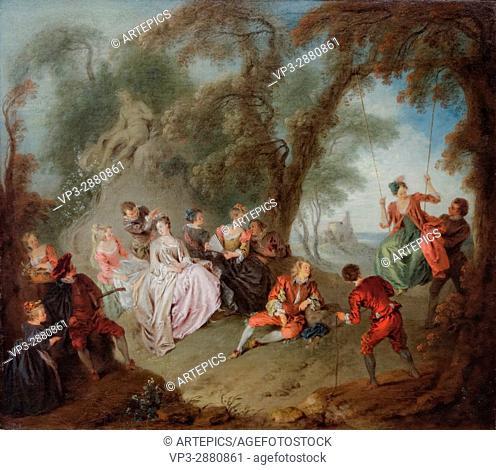 Jean-Baptiste Pater- The Swing - XVIII th Century - French School - Gemäldegalerie - Berlin
