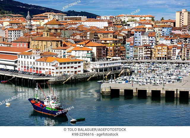 Fishing port, Bermeo, Vizcaya, Euzkadi, Spain