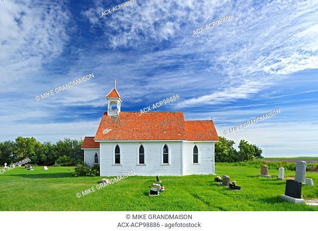St. Columba Anglican Church Eyebrow Saskatchewan Canada