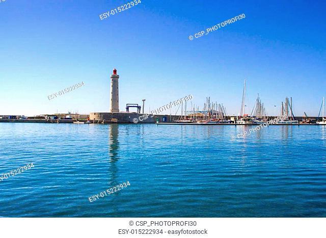 Lighthouse of the Saint-Louis mole, Sete, Languedoc-Roussillon
