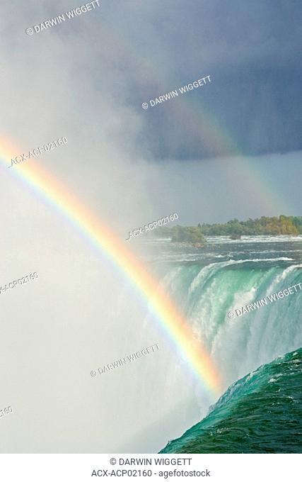 Horseshoe Falls with rainbows from Table Rock Viewpoint, Niagara Falls, Ontario, Canada